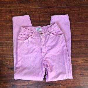 Vintage high waisted pink St. John jeans